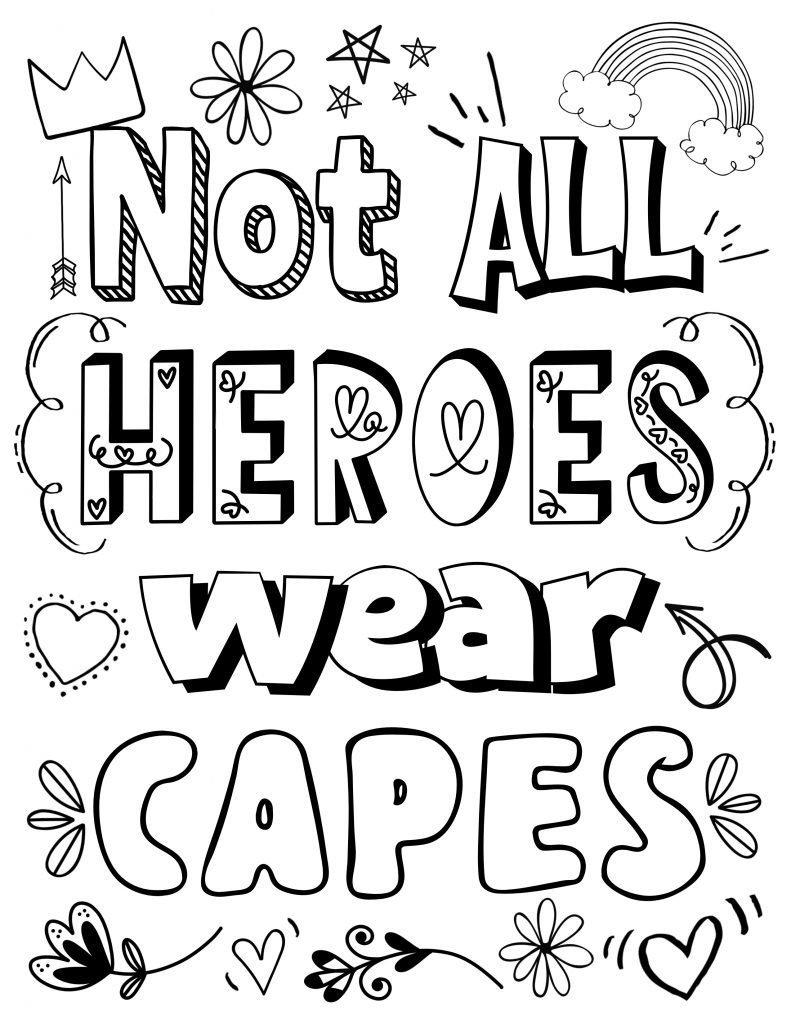 free heroes printable coloring page