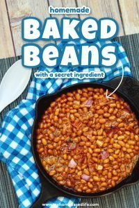 homemade baked bean recipe with a secret ingredient