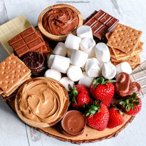summer dessert board idea for a backyard bbq or party
