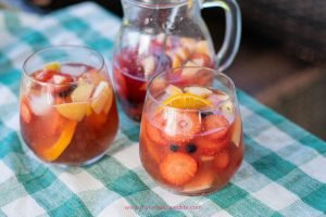 best summer sangria with rose and vodka