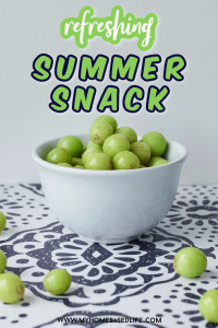honey frozen grapes - a refreshing summer snack