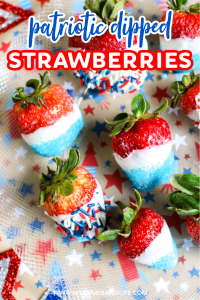patriotic dipped strawberries - red white and blue dessert recipe