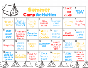 kids summer camp activities