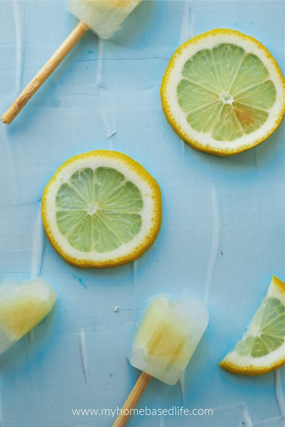 fresh squeezed lemon popsicles