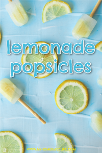 fresh squeezed lemonade popsicles