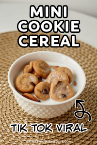 mini cookie cereal - the viral mini cookie cereal recipe