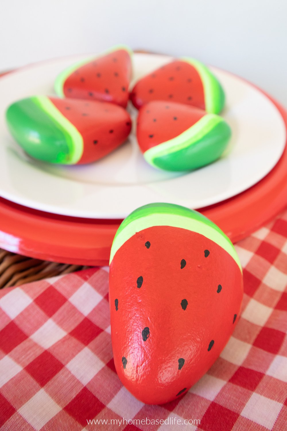 painted watermelon rocks
