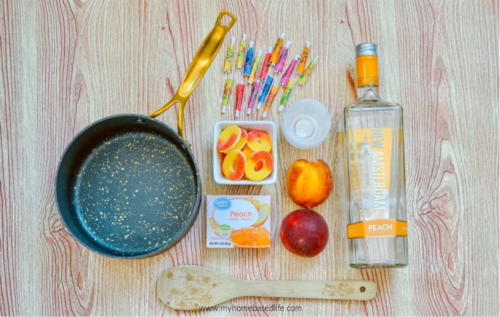 ingredients for peach jello shots