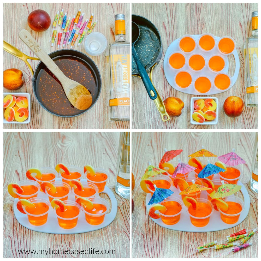 how to make peach jello shots