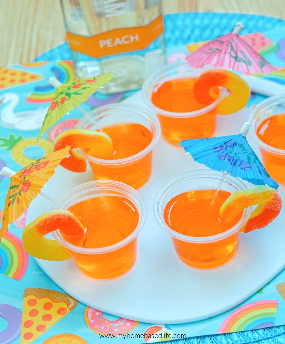 peach jello shots with candy