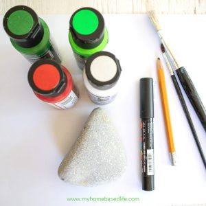 supplies to paint watermelon rocks