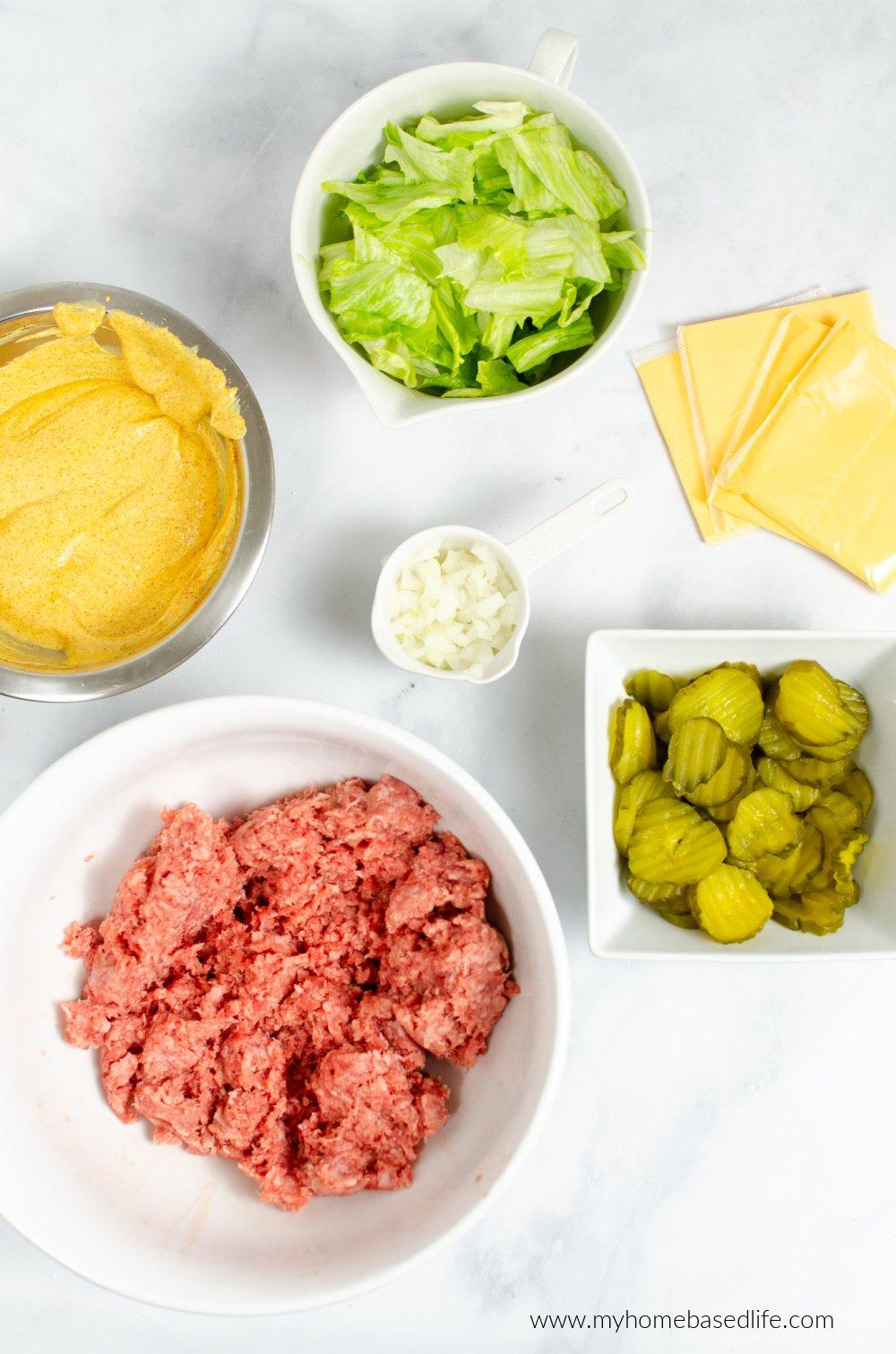 slider ingredients