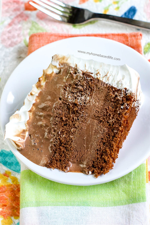 chocolate ice cream cake easy dessert recipe