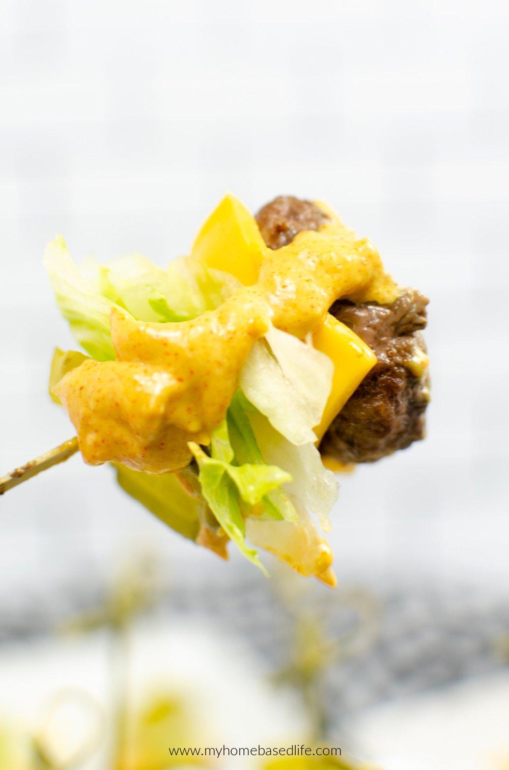 bic mac burger mini bites
