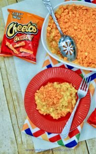 crunchy Cheeto baked Mac and cheese