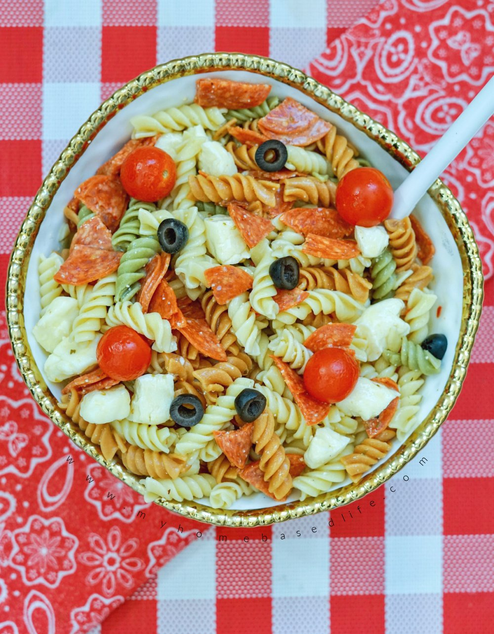 pasta salad with cheese curds