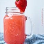fresh watermelon strawberry lemonade