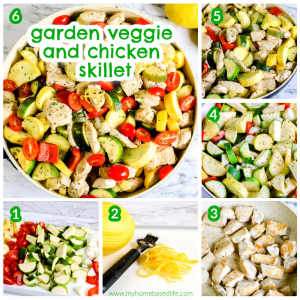 veggie chicken skillet recipe