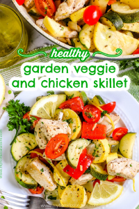 garden veggie and chicken skillet recipe
