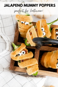 cute and fun jalapeño mummy poppers make a great halloween appetizer