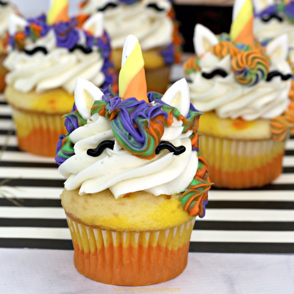 unicorn witch halloween cupcakes