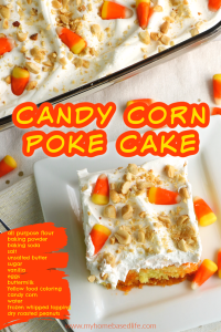candy corn poke cake recipe a halloween and fall dessert recipe with candy corn
