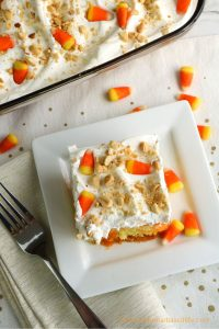 fall poke cake candy corn recipe