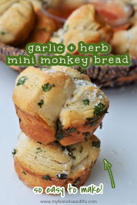mini garlic and herb monkey bread recipe