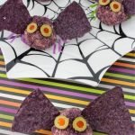 Halloween bat cheese ball bites