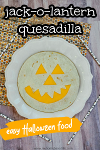 jack-o-lantern quesadilla recipe