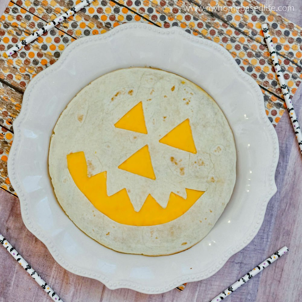 halloween pumpkin quesadilla