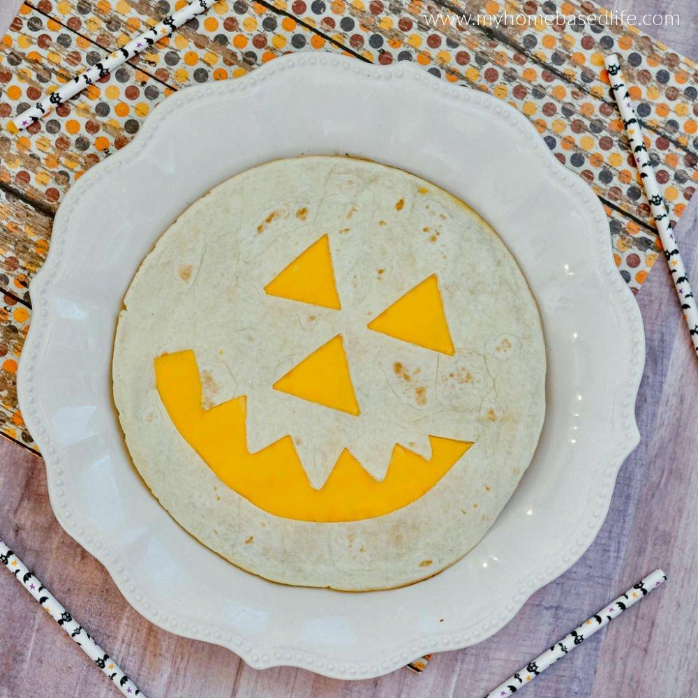 halloween pumpkin quesadilla
