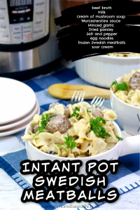 Instant Pot Swedish meatball recipe
