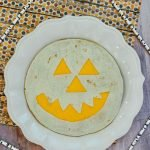 jack o lantern quesadilla easy halloween food