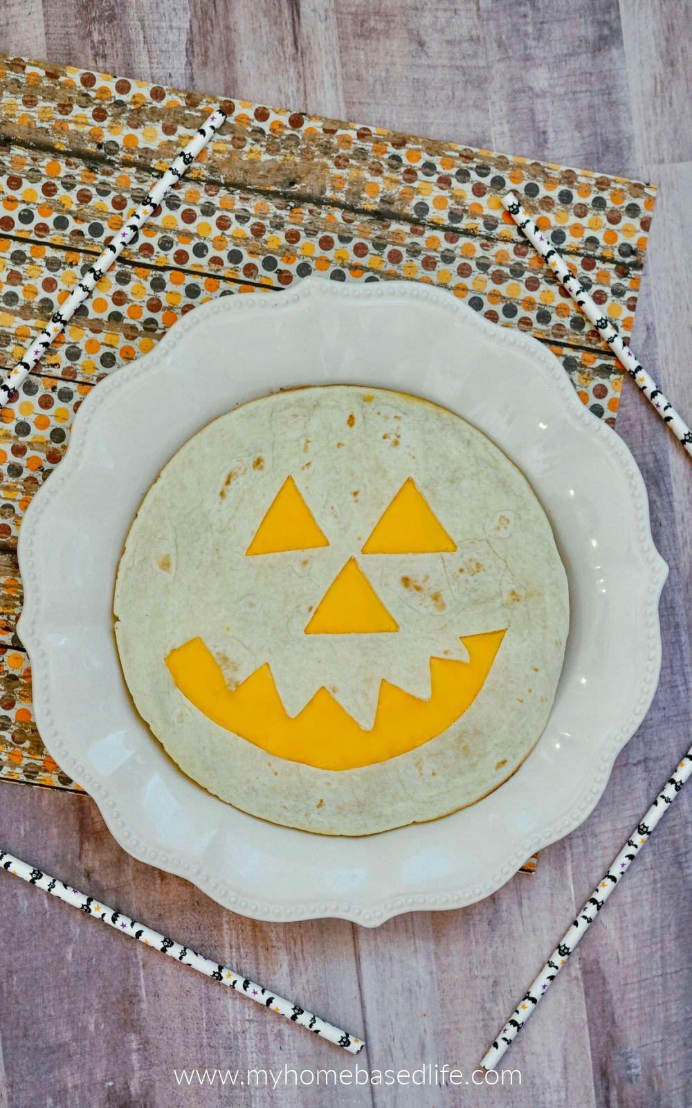 jack o lantern quesadilla easy halloween food