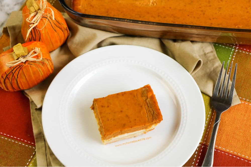 pumpkin, cheesecake, layered dessert bars