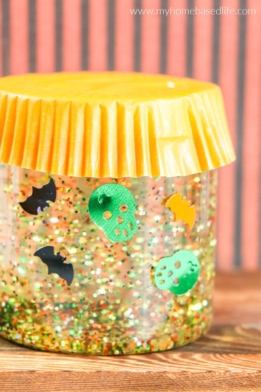 halloween diy sensory jar project for kids