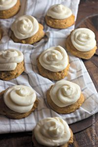 pumpkin cookies cream cheese frosting