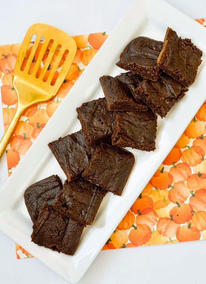 easy pumpkin brownie recipe