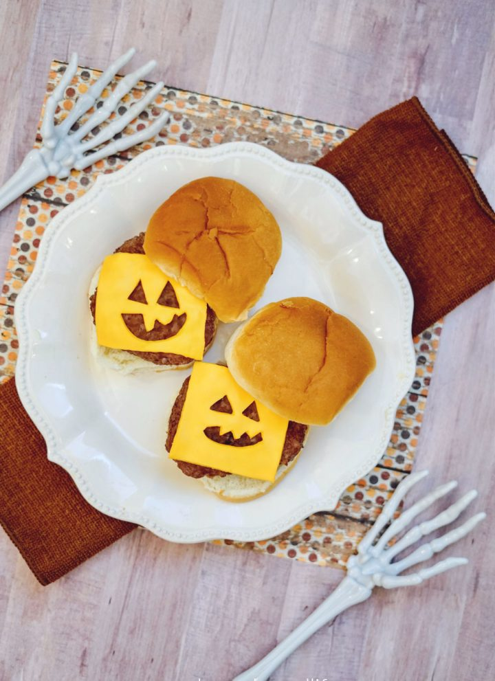 Halloween cheeseburger idea