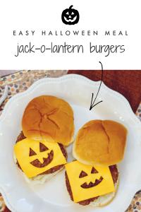 Halloween-Mahlzeit Idee - Jack-o-Laterne Cheeseburger