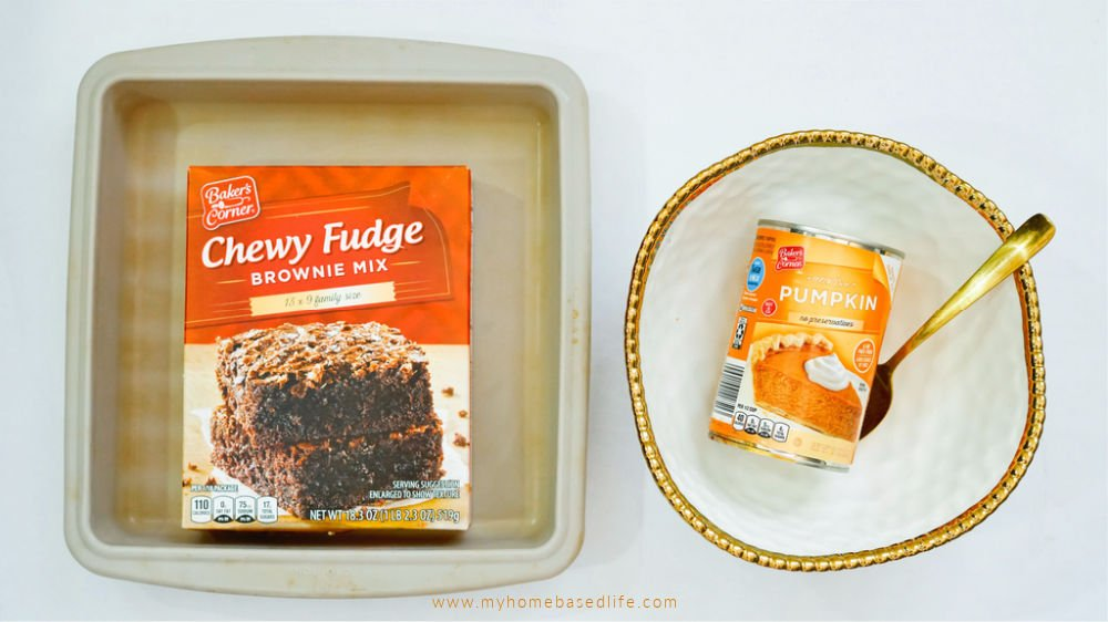 ingredients pumpkin brownies