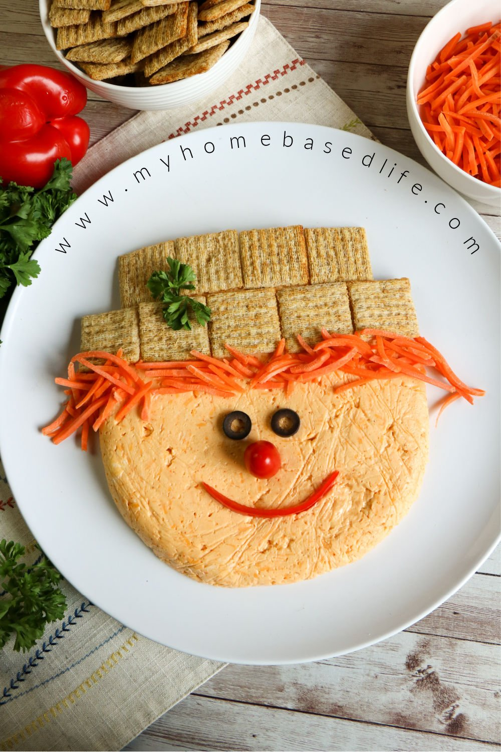 cheese ball scarecrow easy fall appetizer