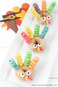 Thanksgiving breakfast or treat idea - turkey donuts