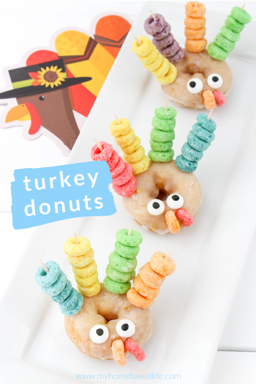 turkey donuts Thanksgiving breakfast or treat