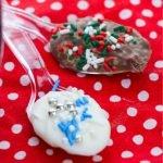 Christmas chocolate spoons