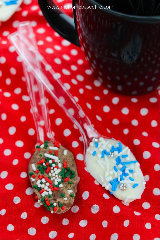 Christmas white and milk chocolate spoon recipe