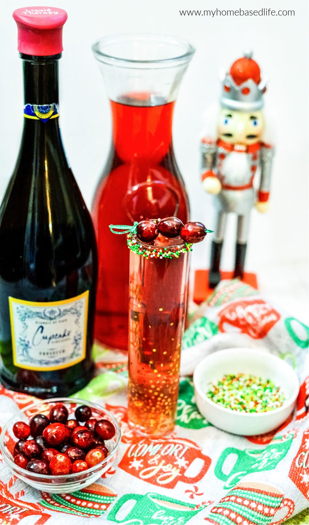 cranberry mimosa for the holidays