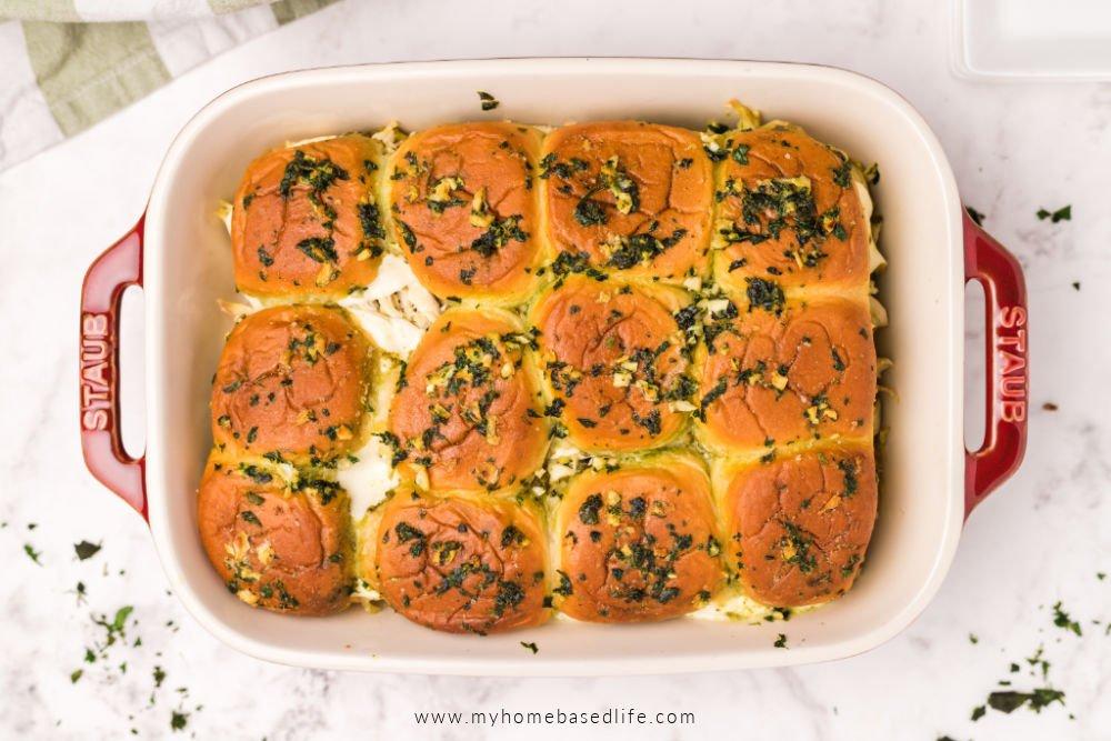 cheesy chicken pesto slider recipe