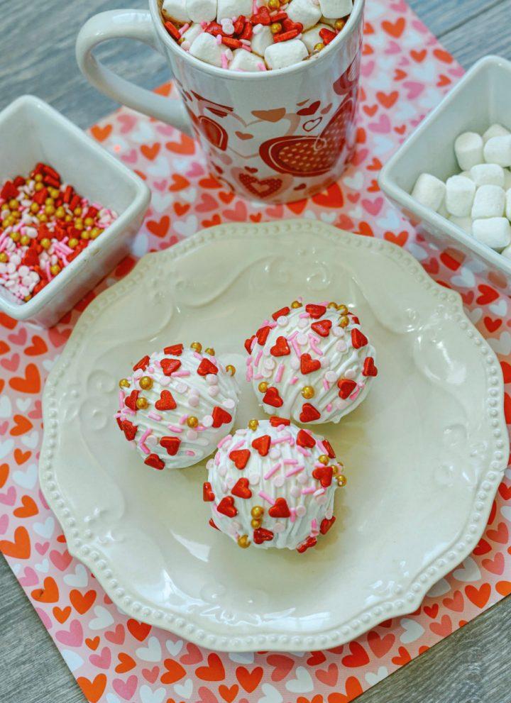 Valentine's Day hot chocolate bomb recipe